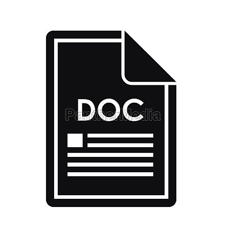 file doc icon simple style