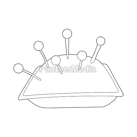 cushion with pins icon outline style