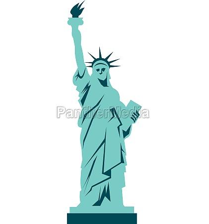 statue of liberty icon flat style