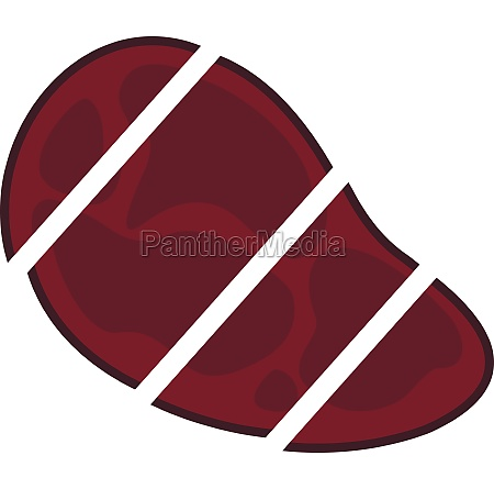steak cut into piecesk icon flat