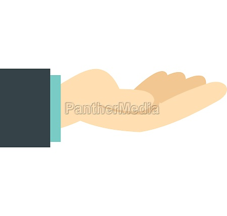 gesture of charity icon flat style