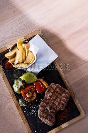 juicy grilled steak