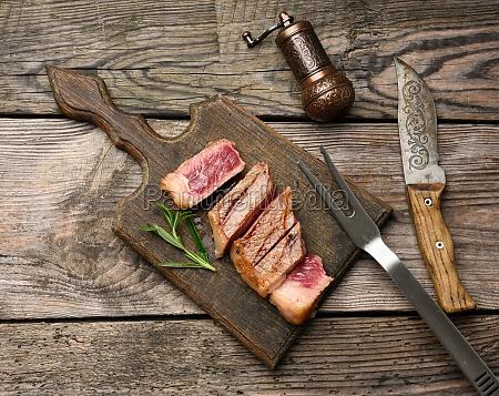 sliced fried beef steak new york
