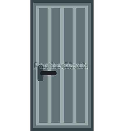 steel door icon flat style