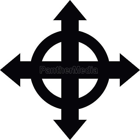 arrows target icon simple style