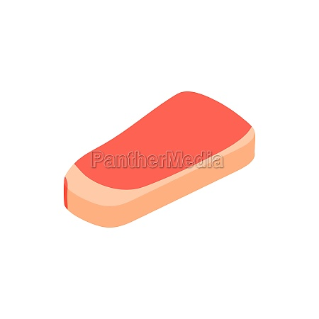 piece of meat veal icon isometric