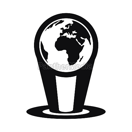 hologram globe icon simple style