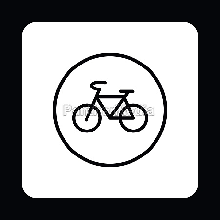 sign bike icon simple style