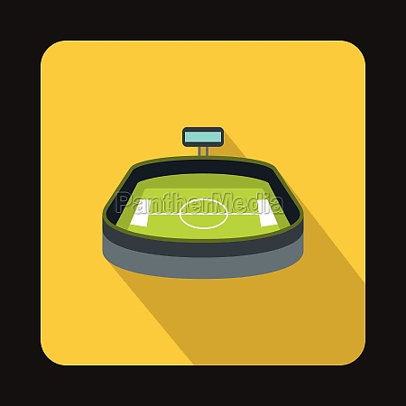 stadium icon flat style