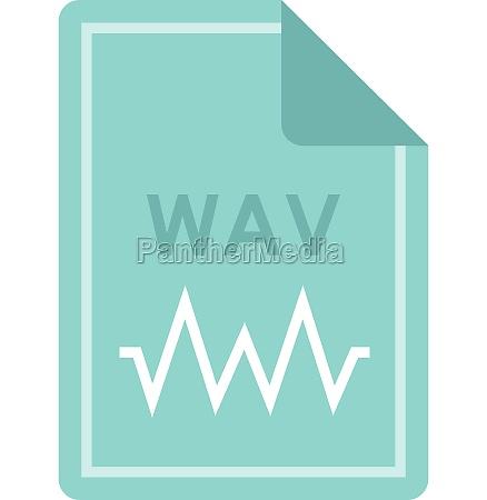 file wav icon flat style
