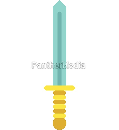 sword icon in flat style