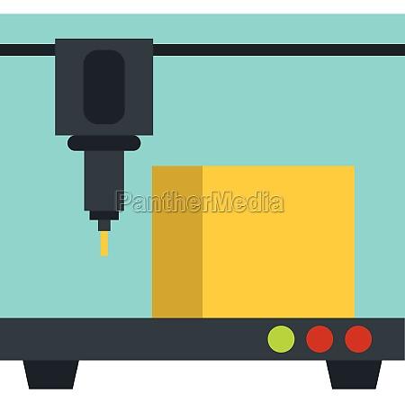 3d printer icon flat style