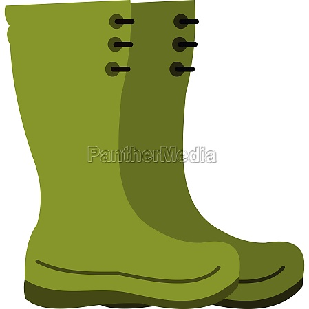 rubber boots icon flat style