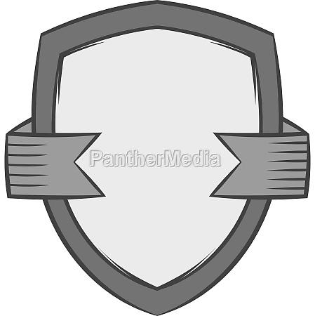 shield of quality icon black monochrome