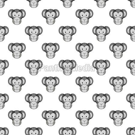 monkey face seamless pattern