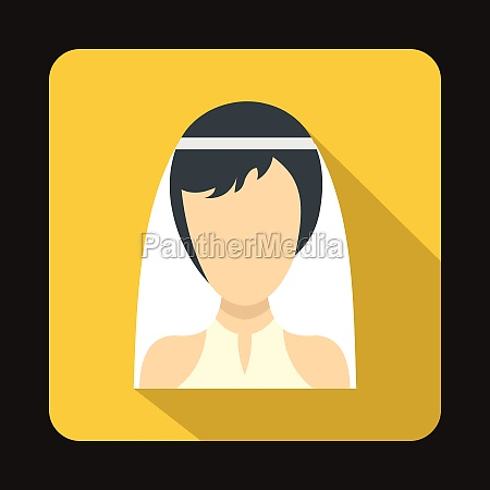 bride icon in flat style