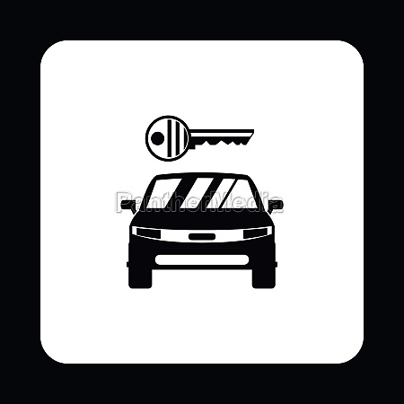 car from impound yard icon simple