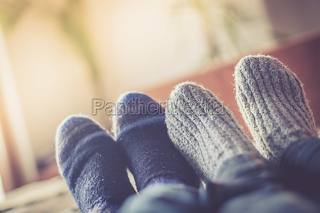 cosy relaxing in the wintertime at