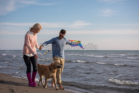 happy couple enjoying time together at