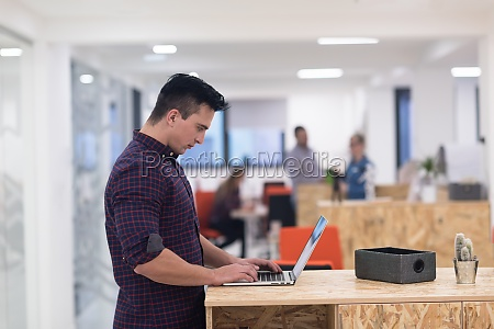 startup business young man portrait
