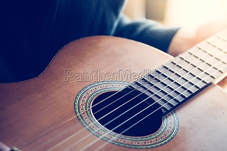 classical guitar and strings professional instrument