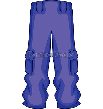 pants snowboard clothes icon cartoon style