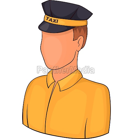 taxi driver icon cartoon style