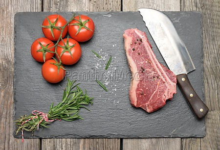 fresh raw piece of beef meat