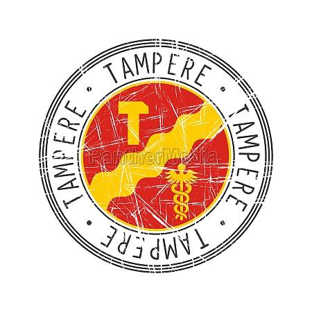 tampere city postal rubber stamp