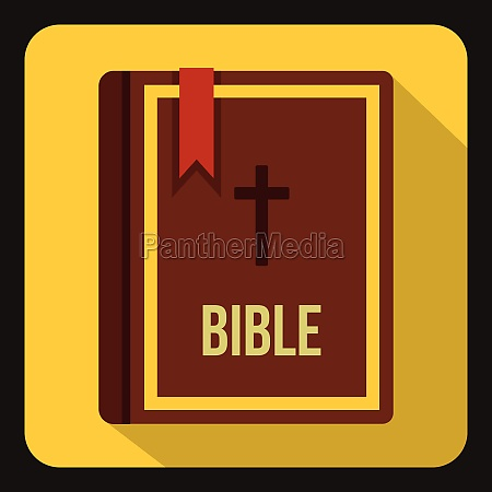 bible icon in flat style