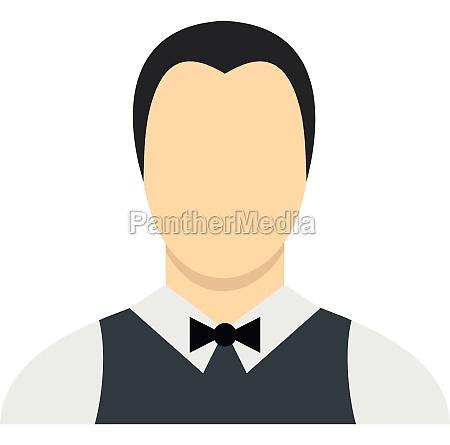 waiter icon flat style