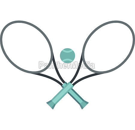 tennis racket and ball icon flat