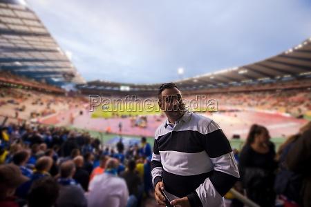 portrait of a male football fan