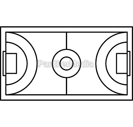 futsal or indoor soccer field icon