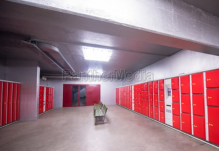 red safety lockers