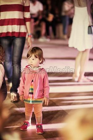 little girl dancing in the kids