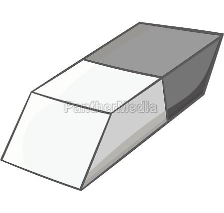 eraser icon black monochrome style