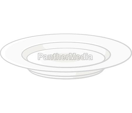 plate icon black monochrome style