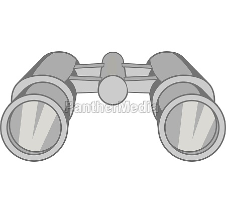 binoculars icon black monochrome style