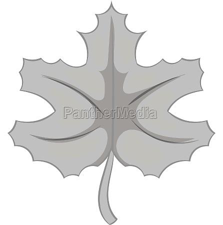 autumn leaf icon black monochrome style