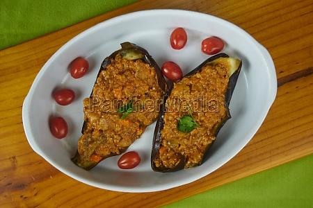 tasty stuffed eggplants aubergines with bolognese