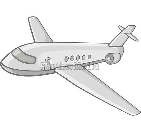 passenger airliner icon black monochrome style