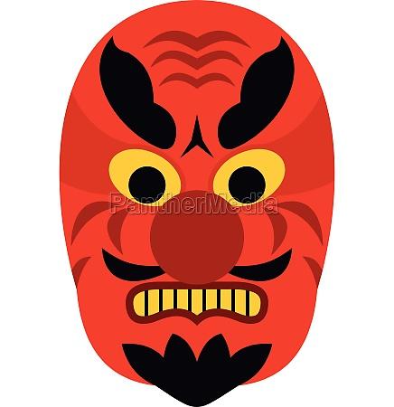 hannya mask icon flat style