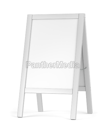 white blank advertising stand