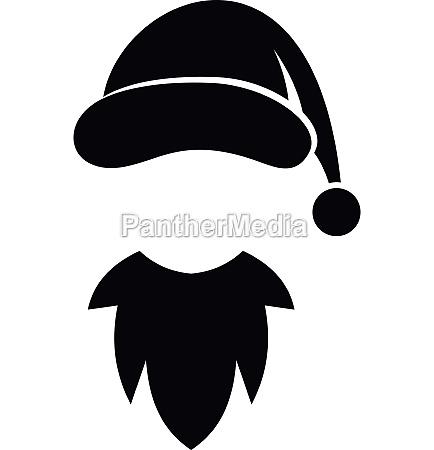 cap with pompon of santa claus