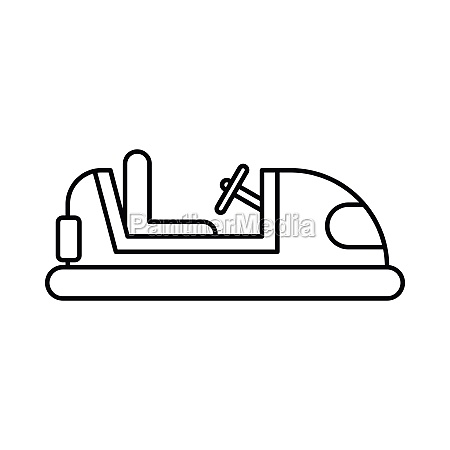 bumper car icon in outline style