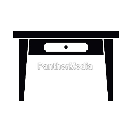 wooden table icon simple style