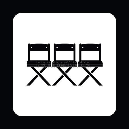cinema seats icon simple style