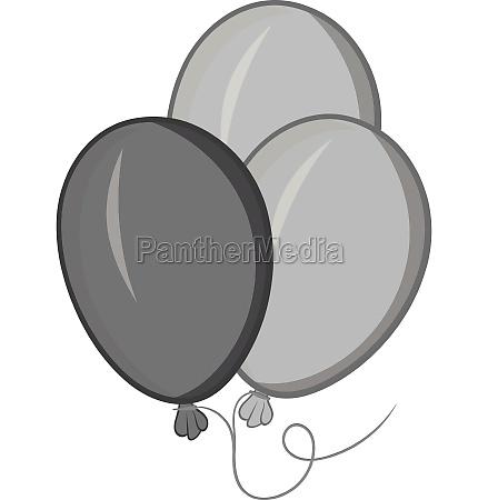 balloons icon black monochrome style