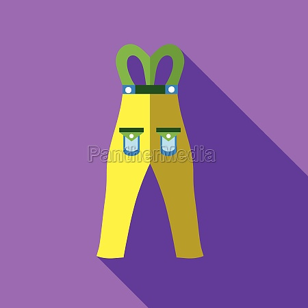 pants snowboard clothes icon flat style